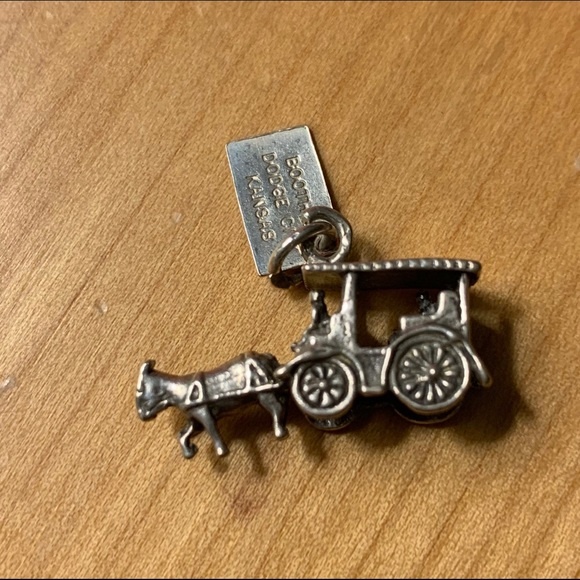 Jewelry - Sterling charm for kansas - Horse and cart